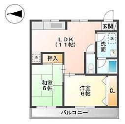 アラジンハウス[2階]の間取り