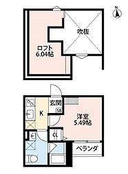 大阪府堺市西区浜寺元町4丁の賃貸アパートの間取り