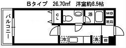 ソナーレ・W[603号室]の間取り