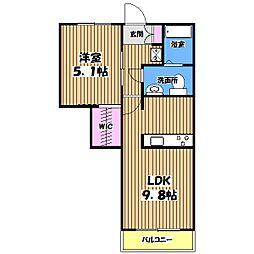 シャンベール[2階]の間取り