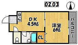 兵庫県明石市大道町2丁目の賃貸マンションの間取り