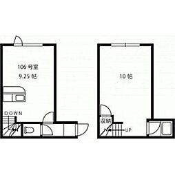 ウエスタ松並[2階]の間取り