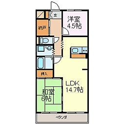 エトワール三郷[3階]の間取り