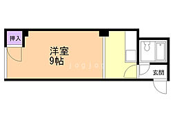 リバーサイド14 2階ワンルームの間取り