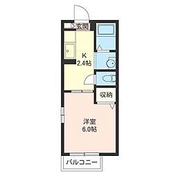 グリーンハイツ西都賀[2階]の間取り