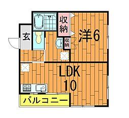 栗山マンション[3階]の間取り
