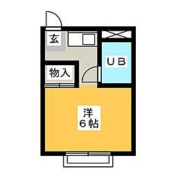 杁中カジウラマンション[2階]の間取り