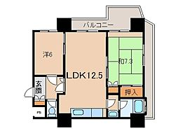 ル・シャトー真砂705号[7階]の間取り