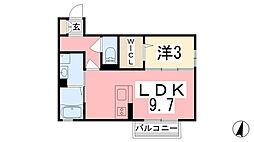 24番地[105号室]の間取り