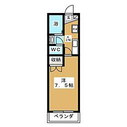 ユージックス伝馬[3階]の間取り