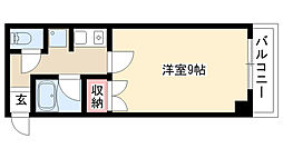愛知県名古屋市瑞穂区竹田町4丁目の賃貸マンションの間取り