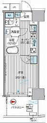 東京メトロ丸ノ内線 淡路町駅 徒歩1分の賃貸マンション 7階1Kの間取り