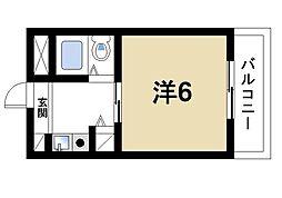 シティパレス21西大寺P-I[1階]の間取り