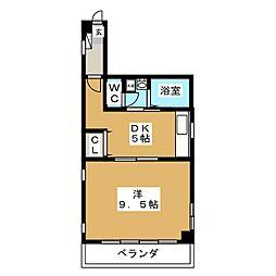エランドール小田原[2階]の間取り