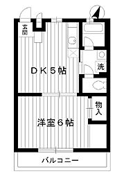 東京都練馬区石神井町の賃貸マンションの間取り