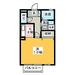 パピヨン[1階]の間取り