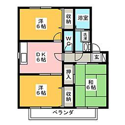 アトリオB[1階]の間取り