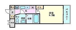 エスリード京橋III番館[406号室]の間取り