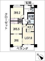 リベロ高横須賀[5階]の間取り