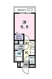 ローズメゾン[1階]の間取り
