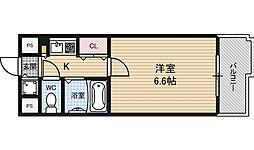 プレサンス梅田西[9階]の間取り