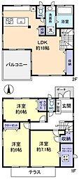 [一戸建] 千葉県船橋市西習志野1丁目 の賃貸【/】の間取り