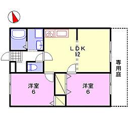 ルミエール飾磨II[B106号室]の間取り