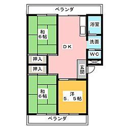 加納コーポ[3階]の間取り