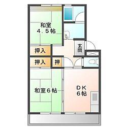 上浜団地(1・2号棟)[1-505号室]の間取り