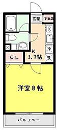東京都板橋区赤塚新町3丁目の賃貸アパートの間取り