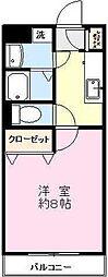 スクエア[205号室]の間取り