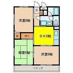 吉田マンションA棟[2階]の間取り