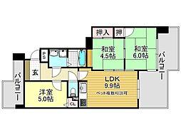 ピカソ平野[5O8号室号室]の間取り