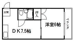 マンションエイト[505号室]の間取り