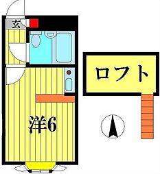 ベルピア・常盤平第11-1[2階]の間取り