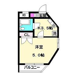 サンシティ中野島第2[303号室]の間取り