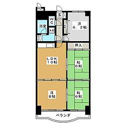 ネオハイツ中倉[7階]の間取り