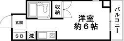 東京都江戸川区東小松川1丁目の賃貸マンションの間取り