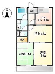 アーバンヒルズT2[2階]の間取り