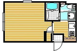 ブラウニー小豆沢st.[2階]の間取り