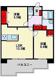 SESSION穴生[2階]の間取り