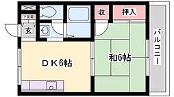 シャトー尾上[2階]の間取り