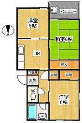 神奈川県横浜市戸塚区下倉田町の賃貸マンションの間取り