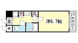 ロイヤルヒル神戸三ノ宮Ⅱ[210号室]の間取り