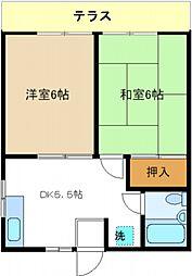 ハイツ桜台[102号室号室]の間取り