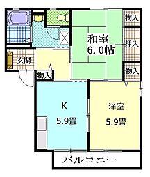 City田園II[2階]の間取り