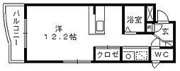 サンライフ鴨江[2階]の間取り
