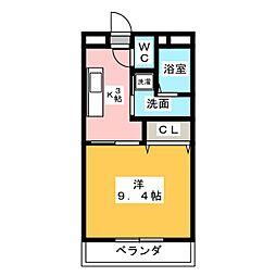 リバーサイドII[1階]の間取り