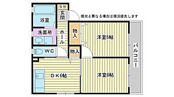 兵庫県高砂市荒井町中町の賃貸アパートの間取り