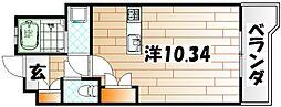 サンラビール小倉[708号室]の間取り